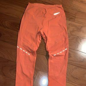 Orange/red gym shark leggings